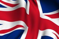 Übertragene britische Markierungsfahne Stockbild