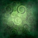 Übertragene, grüne Wellen des Auszuges und Rotation lizenzfreie abbildung