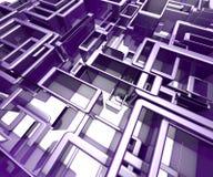 Übertragene Illustration des abstrakten blauen Hintergrundes Stockbilder