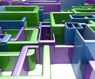 Übertragene Illustration des abstrakten blauen Hintergrundes Stockfotos