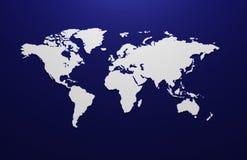 Übertragene Karte 3d der Welt Stockfotos