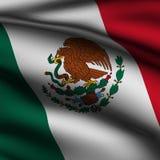 Übertragene mexikanische quadratische Markierungsfahne Lizenzfreie Stockfotos