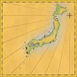 Übertragene Navigationskarte Lizenzfreies Stockbild