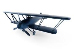 Übertragenes weißes Flugzeug des Spielzeugs 3D Lizenzfreies Stockbild