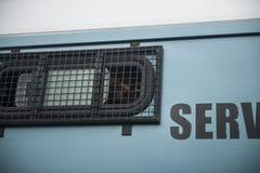 Übertragung auf Gefängnis stockfotos