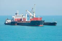 Übertragung der Fracht in Meer Stockfotos