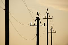 Übertragung des Stroms stockbild