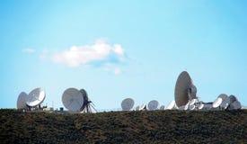 Übertragungen über Satelitte Stockfoto