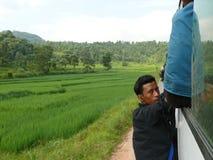 Übervoller Bus - Nepal Lizenzfreie Stockfotos
