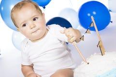 Überwältigender Kuchen des Babys Stockfotos