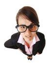 Überwältigte Geschäftsfrau Stockbild