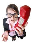 Überwältigte Geschäftsfrau Lizenzfreies Stockbild