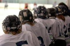Überwachen des Hockeyspiels Stockbild