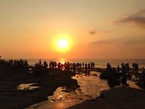 Überwachen des Sonnenuntergangs Stockbild