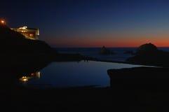 Überwachen des Sonnenuntergangs lizenzfreies stockfoto