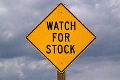 Überwachen Sie für auf lagerzeichen Stockbild
