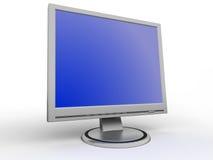 Überwachen Sie flachen Bildschirm stockbild