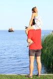 Überwachen Sie ihn, ein Boot! Stockfoto