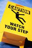 Überwachen Sie Ihr Jobsteppzeichen stockfoto