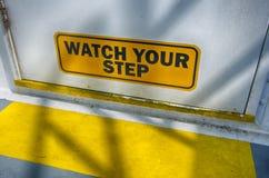 Überwachen Sie Ihren Jobstepp Stockfoto
