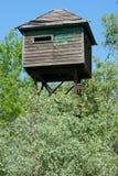 Überwachen Sie Kontrollturm Danubess im Dreieck Lizenzfreie Stockfotografie
