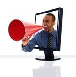 Überwachen Sie Megaphon Lizenzfreie Stockfotografie