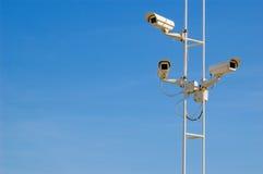 Überwachende Kameras Stockfoto