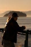 Überwachender Ozean der Paare Lizenzfreies Stockbild