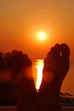Überwachender Sonnenaufgang Lizenzfreie Stockfotos