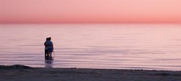 Überwachender Sonnenuntergang Lizenzfreies Stockfoto