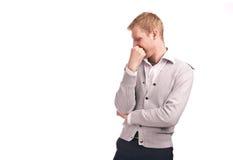 Überwachendes Isolat des erwachsenen Kerls Lizenzfreie Stockfotos