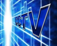 Überwachung Cctv stellt Überwachungskamera und Verhinderung dar Lizenzfreie Stockfotografie