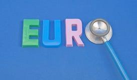 Überwachung der Gesundheit des Euro. Stockbild