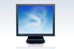 Überwachungsgerät des flachen Bildschirms Stockbild