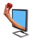 Überwachungsgerät mit ein Apfel stockbild