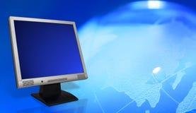 Überwachungsgerät mit Glaskugel lizenzfreie abbildung