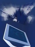 Überwachungsgerät mit Karte stock abbildung