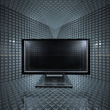 Überwachungsgeräte im Rasterfeldraum Stockfoto