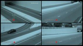 Überwachungskamera-Ansicht stock video footage