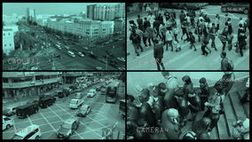 Überwachungskamera-Ansicht stock video