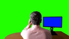 Überwachungskamera-Ansicht Aufgeteilter Beobachtungsschirm stock video footage