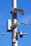 Überwachungskamera auf der Straße Stockbild