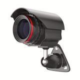 Überwachungskamera auf weißem Hintergrund. Getrenntes 3D Lizenzfreie Stockfotografie