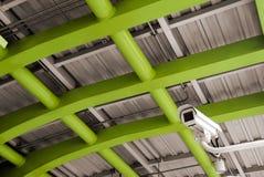 Überwachungskamera im öffentlichen Ort Stockbilder
