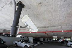 Überwachungskamera im Autoparken Lizenzfreie Stockfotos