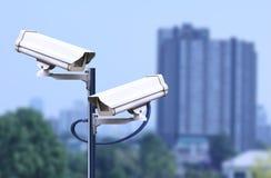 Überwachungskamera im Freien, cctv im Freien Lizenzfreies Stockfoto