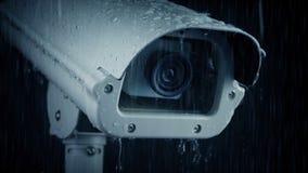 Überwachungskamera im Niederschlag stock video