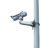 Überwachungskamera- oder CCTV-Isolat auf weißem Hintergrund Stockfoto