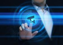 Überwachungskamera-Sicherheitssystem-Geschäfts-Technologie-Sicherheits-Konzept stockfotos