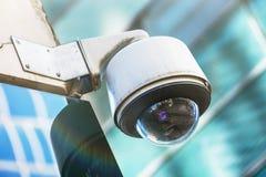 Überwachungskamera und städtisches Video Stockfoto